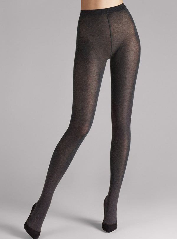 """Cotton Velvet"" Strumpfhose Black-Chiné Wolford"