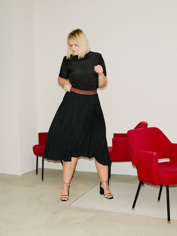 Fluid Skirt - Schwarz Loved by Les Soeurs Shop