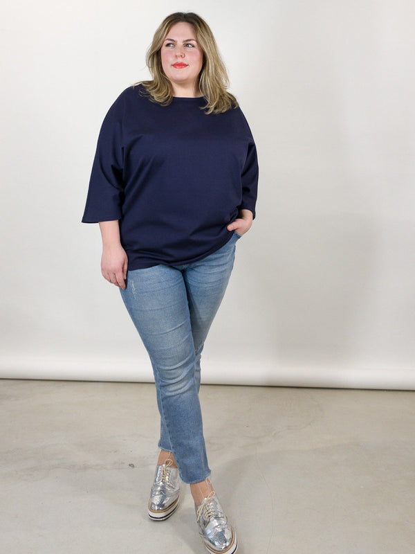 Perfect Sweater - Dunkelblau Loved by Les Soeurs Shop