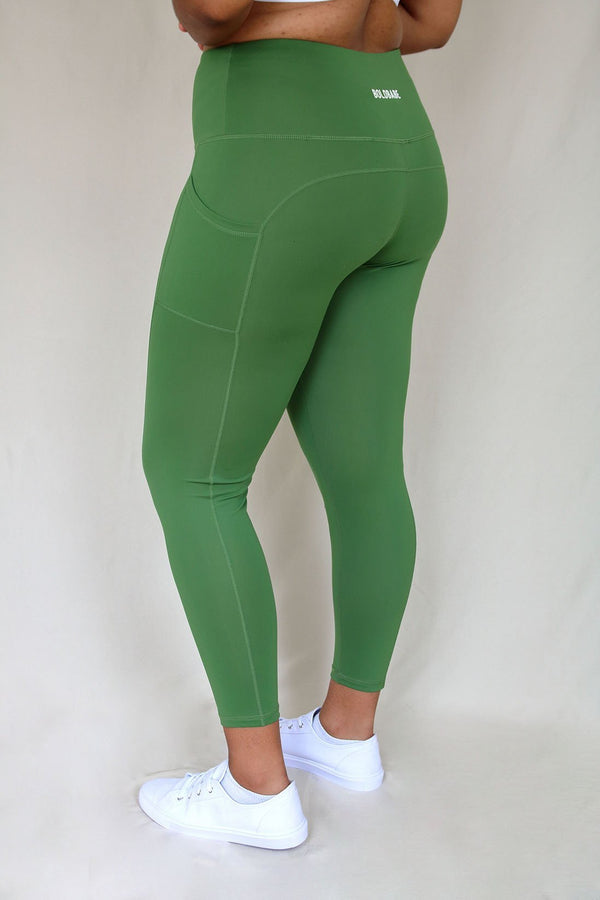 Sportleggings - Matchagrün BOLDBABE