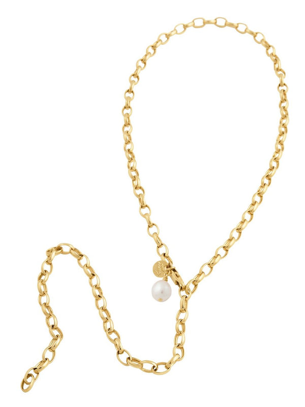 Lucky Pearl Necklace - Gold