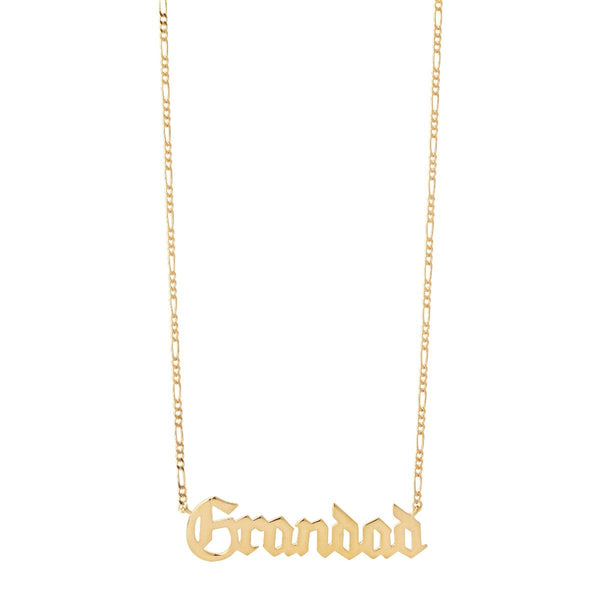 """Grandad Necklace"" - Statement-Kette - Gold"