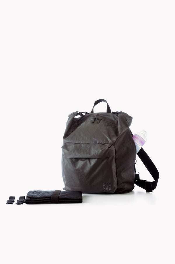 Small Grey nylon diaper bag