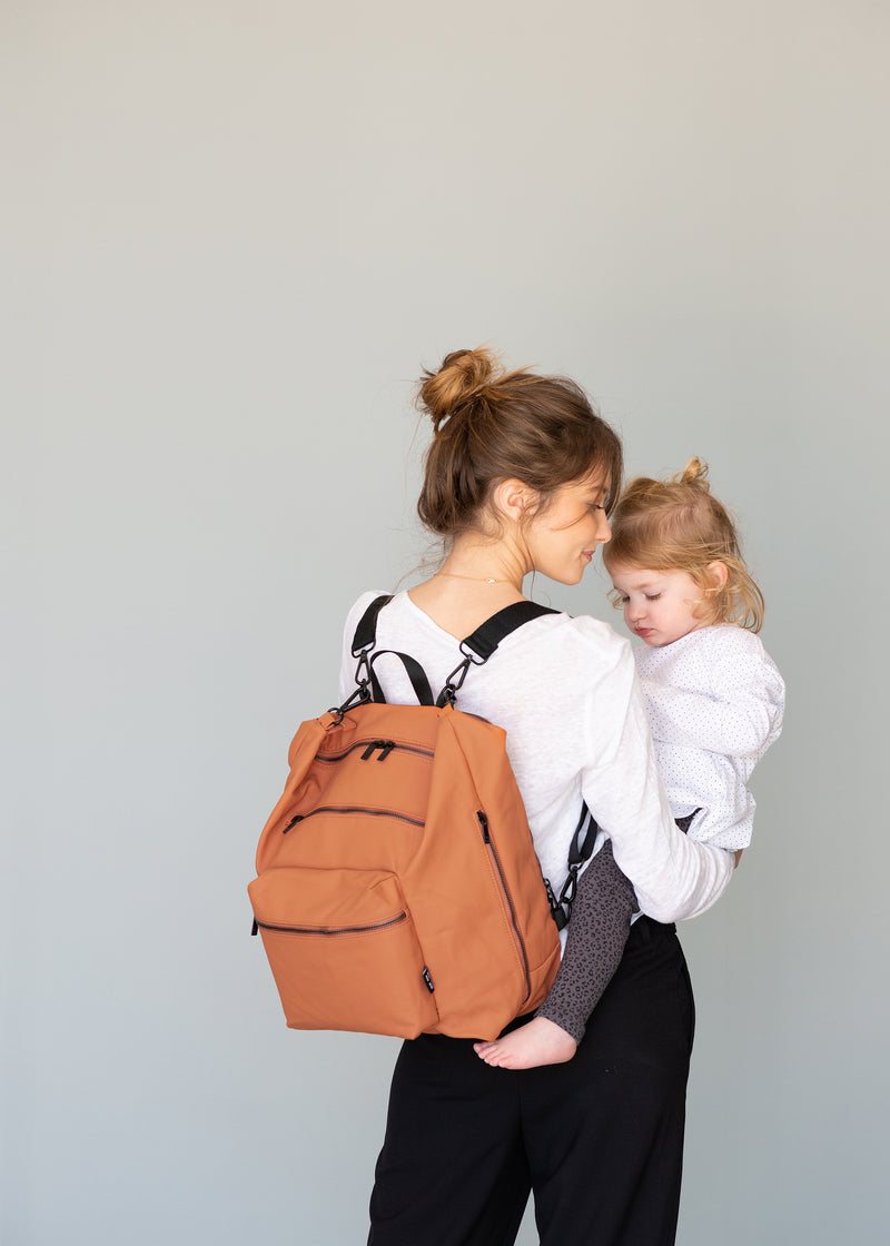 Big Canvas Diaper Bag | Orange