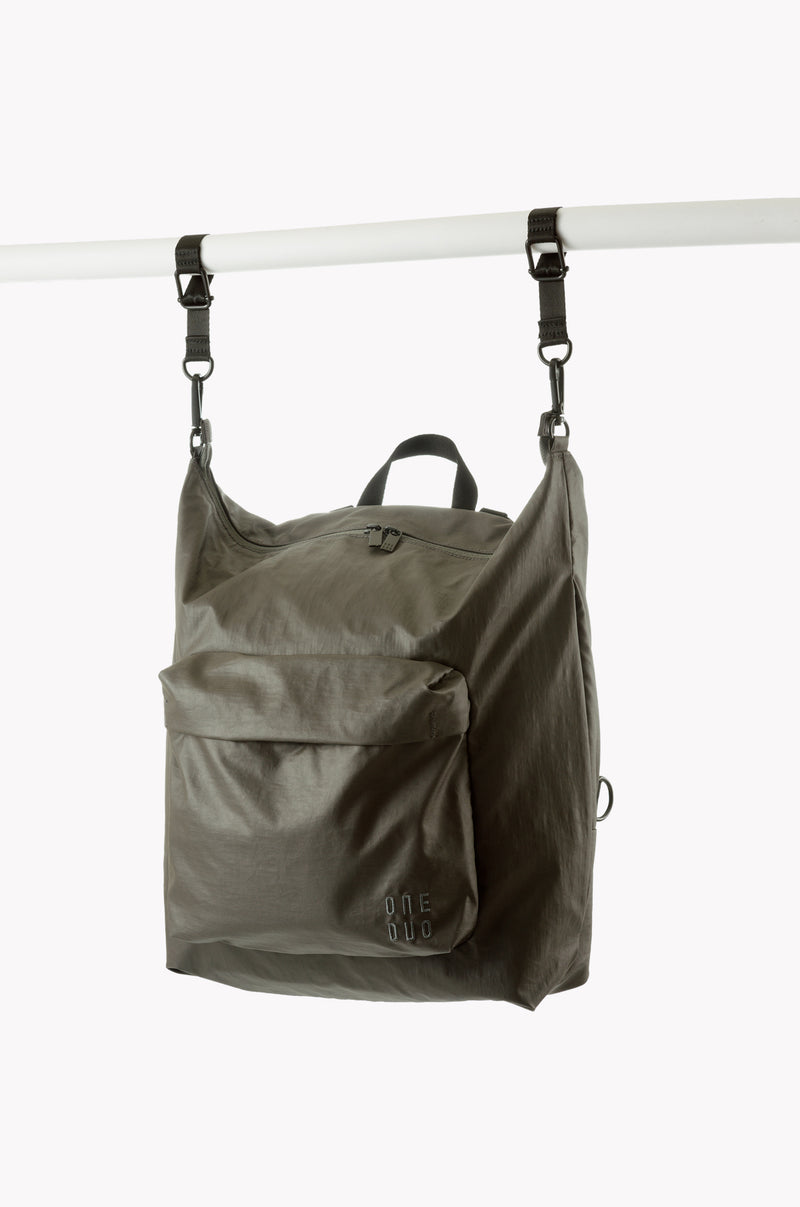 Small Khaki Green nylon diaper bag