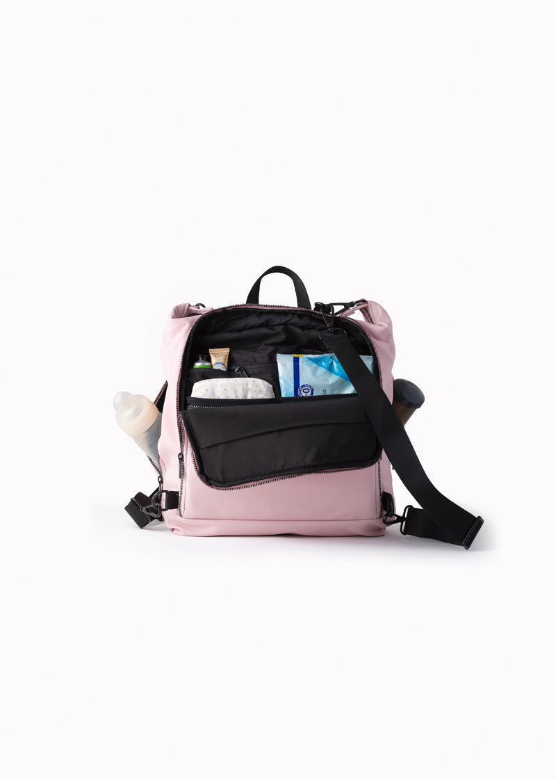 Big Canvas Diaper Bag | Light pink