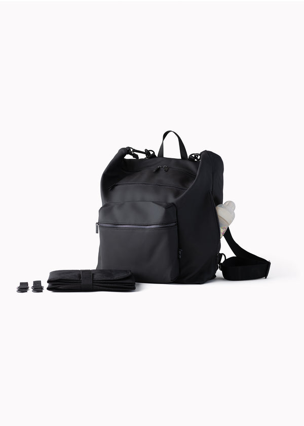 Big Canvas Diaper Bag | Black