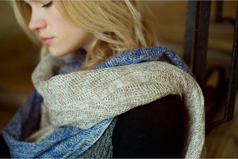 Ayesha Cashmere- Linen Scarf Natural Curiosities