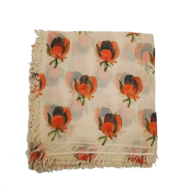 Singapore Botanical Garden Inspired 100% Cashmere Twill Scarf. Special gifts from Singapore.
