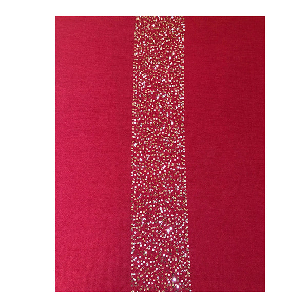 Ayesha Cashmere Sparkly Wrap Red With Gold Sequins