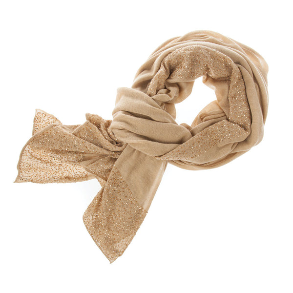 100% Cashmere Wrap With Sequins by Ayesha Cashmere - Luxury Gifts For Her