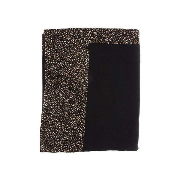 100% Cashmere, Black with Silver Sequins. Classic Accessories for Every Party by Ayesha Cashmere, Singapore