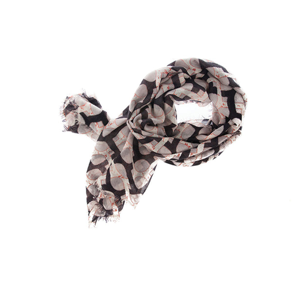 Jaali 100% Cashmere Extra Long Scarf (Black)