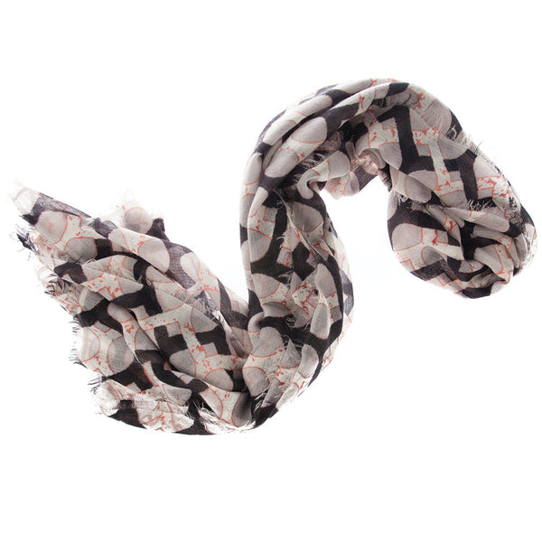Jaali 100% Cashmere Long Scarf (Black)