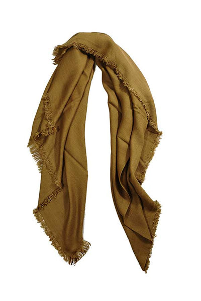 100% Cashmere Solid Camel Colour Large Travel Wrap