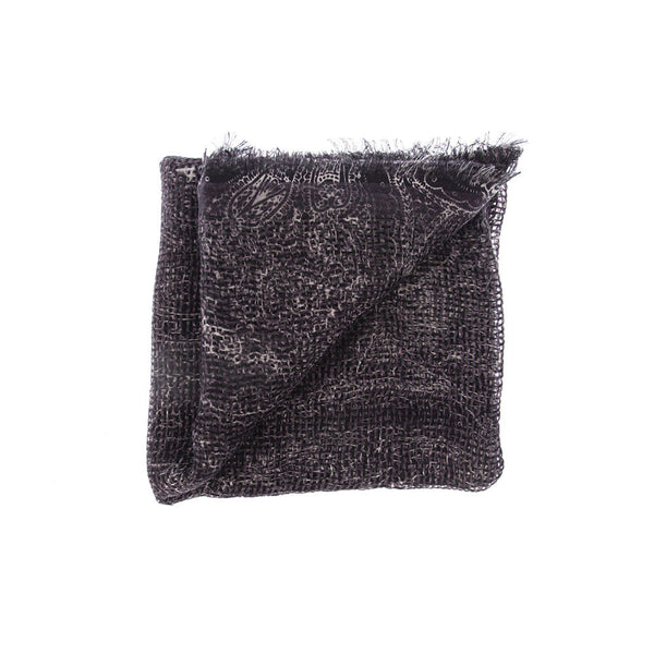 Natural Curiosities 50% Cashmere 50% Linen Long Scarf (Black)