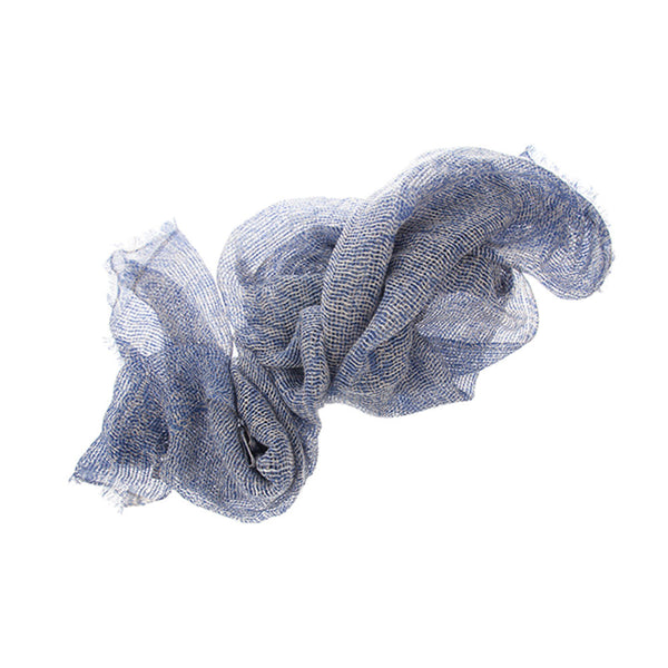 Blue Cashmere Linen Scarf. Perfect For Him. Stylish For Her. Gifts That Charm.