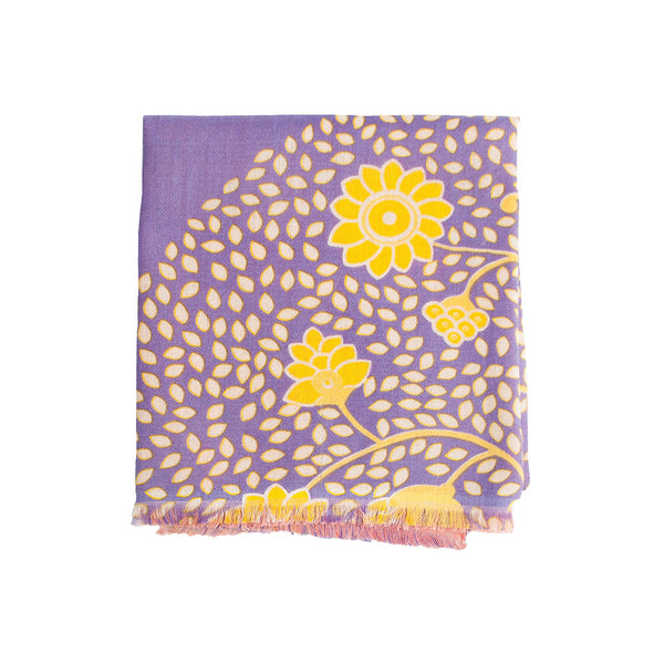 Palampore 100% Cashmere Long Scarf (Pink & Purple)