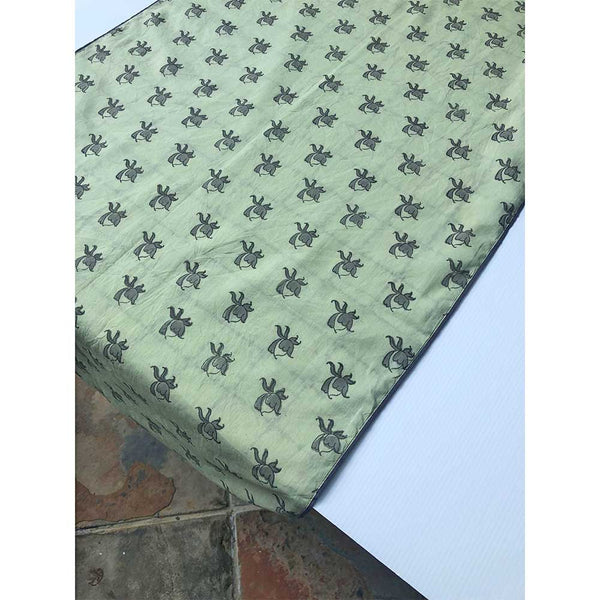 Mix and Match Collection -  Green, Black and Grey Rosebud and Diya Runner