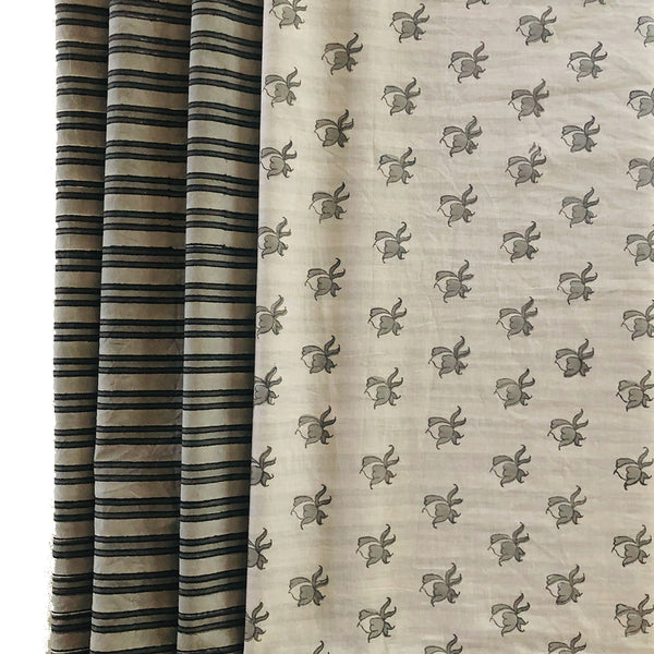 Mix and Match Collection -  Black, Grey and White,  RoseBud and Stripe Runner