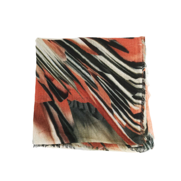 Calcutta Inspired Abstract Print on Cashmere by Ayesha Singapore
