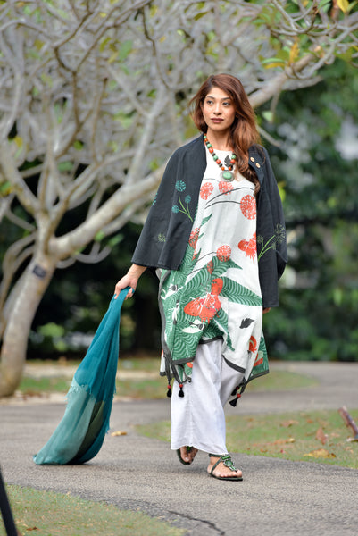 Tropical Journey Kaftan Shift Dress