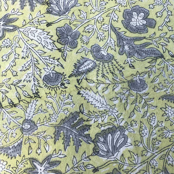 Mix and Match Collection - Yellow, Black, Grey and White, Floralscape Embroidered Placemats with Napkins (Set of 4)