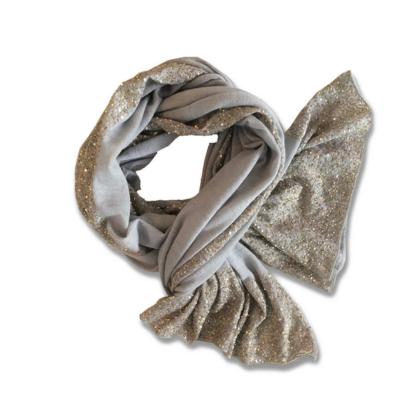 Looking for a grey and gold cashmere wrap