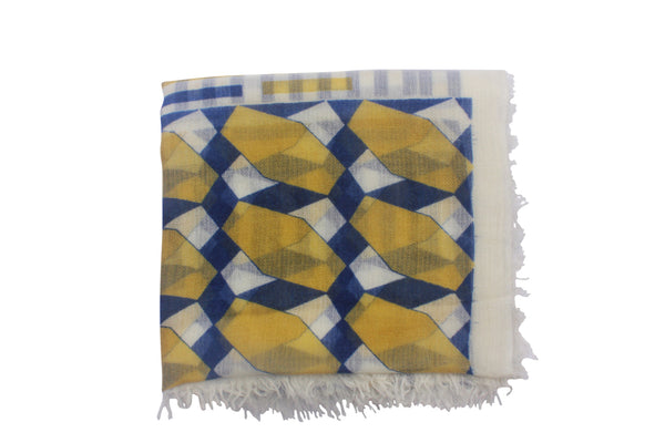 Stylish 100% Cashmere Scarf Inspired By Architecture. From Ayesha Cashmere, Singapore