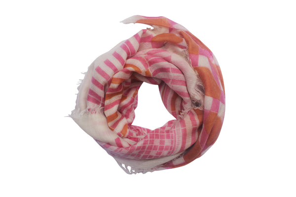 100% Cashmere Pink Luxury Gift Scarf By Ayesha Cashmere Singapore