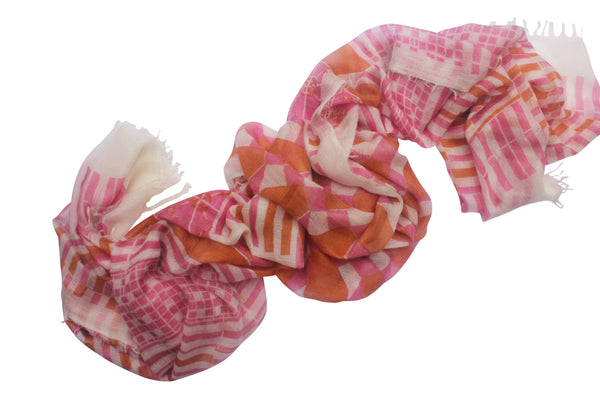 100% Cashmere Pink Luxury Scarf By Ayesha Cashmere Singapore