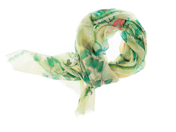 Phoenix 100% Cashmere Long Scarf (Floral Spring)