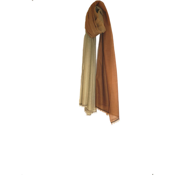 Rust Beige Orange-  3 Tone Ombré 100% Cashmere