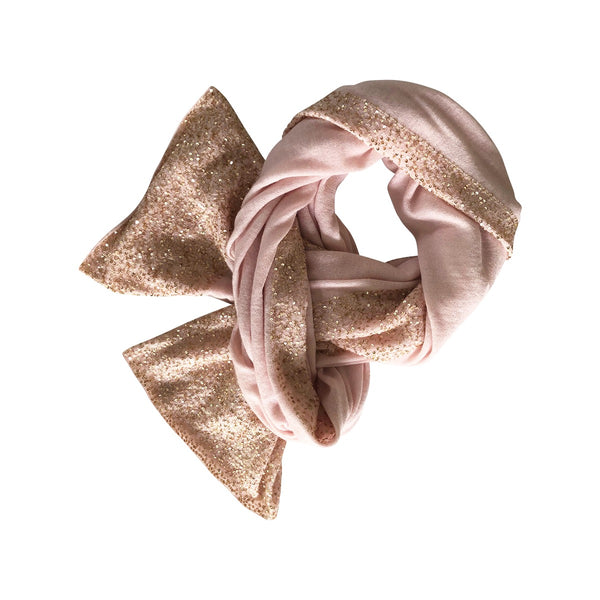 Pink and Gold Sequins Luxurious Cashmere Wrap