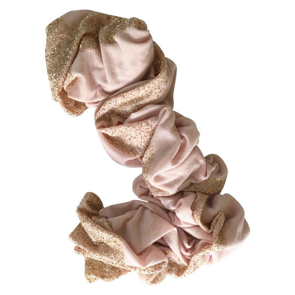 Pink and Gold Sequins Cashmere Wrap by Ayesha Singapore