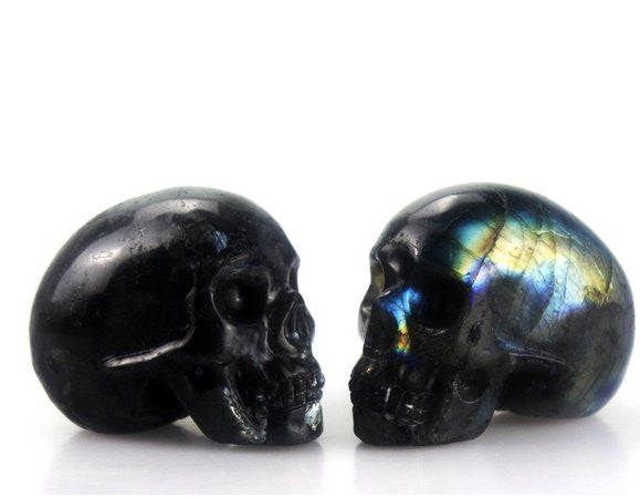 FLASH LABRADROITE CRYSTAL SKULL