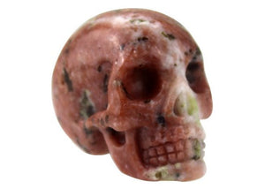 RED PLUM BLOSSOM CRYSTAL SKULL