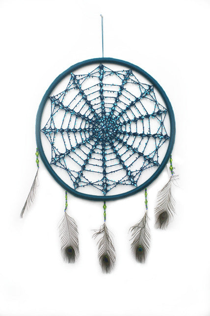 TEAL SEQUIN MEDIUM DREAMCATCHER
