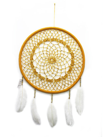 YELLOW SEQUIN MEDIUM DREAMCATCHER