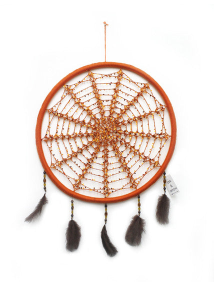 ORANGE SEQUIN MEDIUM DREAMCATCHER