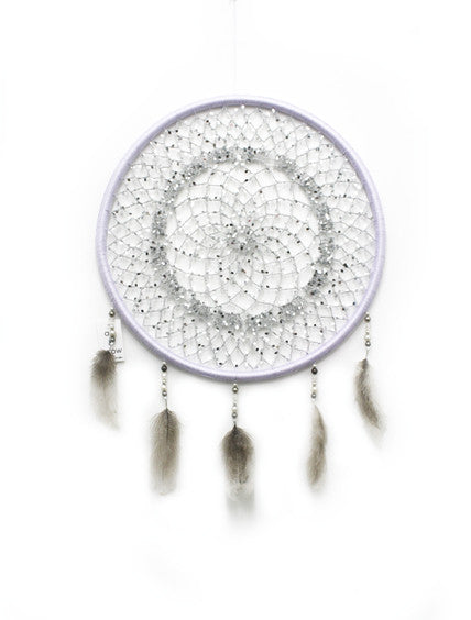 LIGHTGREY SEQUIN MEDIUM DREAMCATCHER