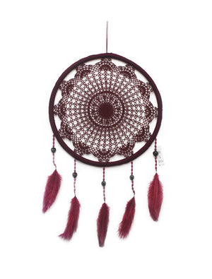 BURGUNDY SMALL DREAMCATCHER