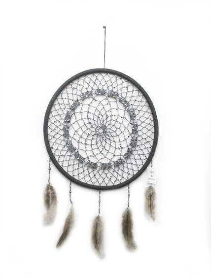 DARK GREY SEQUIN MEDIUM DREAMCATCHER