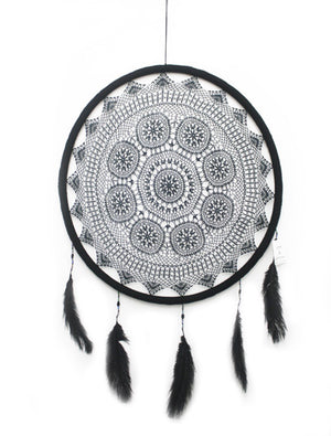 BLACK LARGE DREAMCATCHER