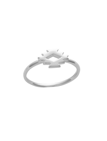 SILVER 925 AZTEC RING