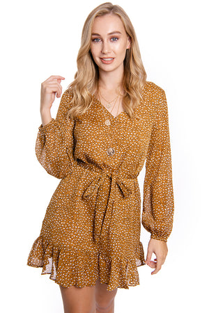 Fair Game Dress Mustard