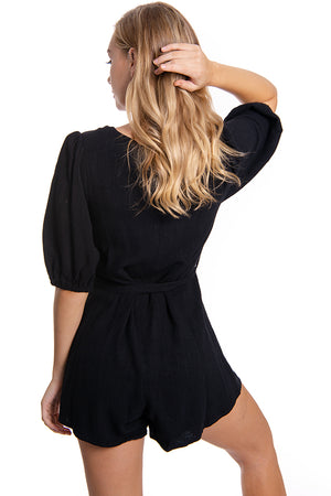 Due West Playsuit Black