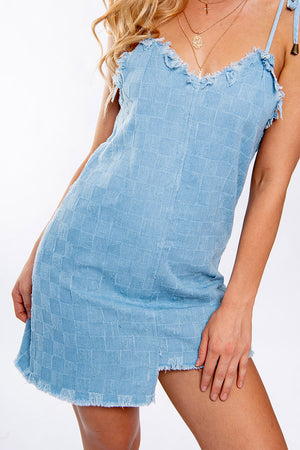 All Eyes Dress Light Denim