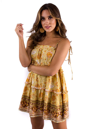 Sandy Scenes Dress Yellow