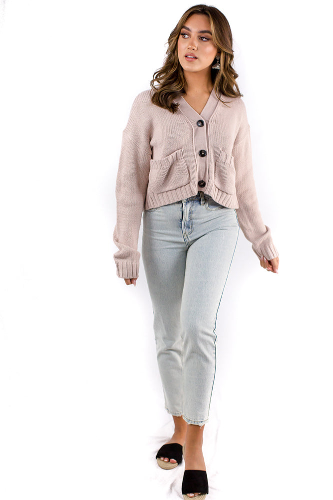 Temptation Cardigan Beige